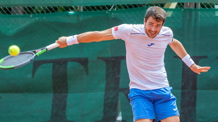 Der Spanier Pedro Martinez (ATP 76) lief in der Qualifikation acht Mal für den TC Froburg Trimbach auf. Seine Bilanz: fünf Siege und drei Niederlagen. (Fabio Baranzini)