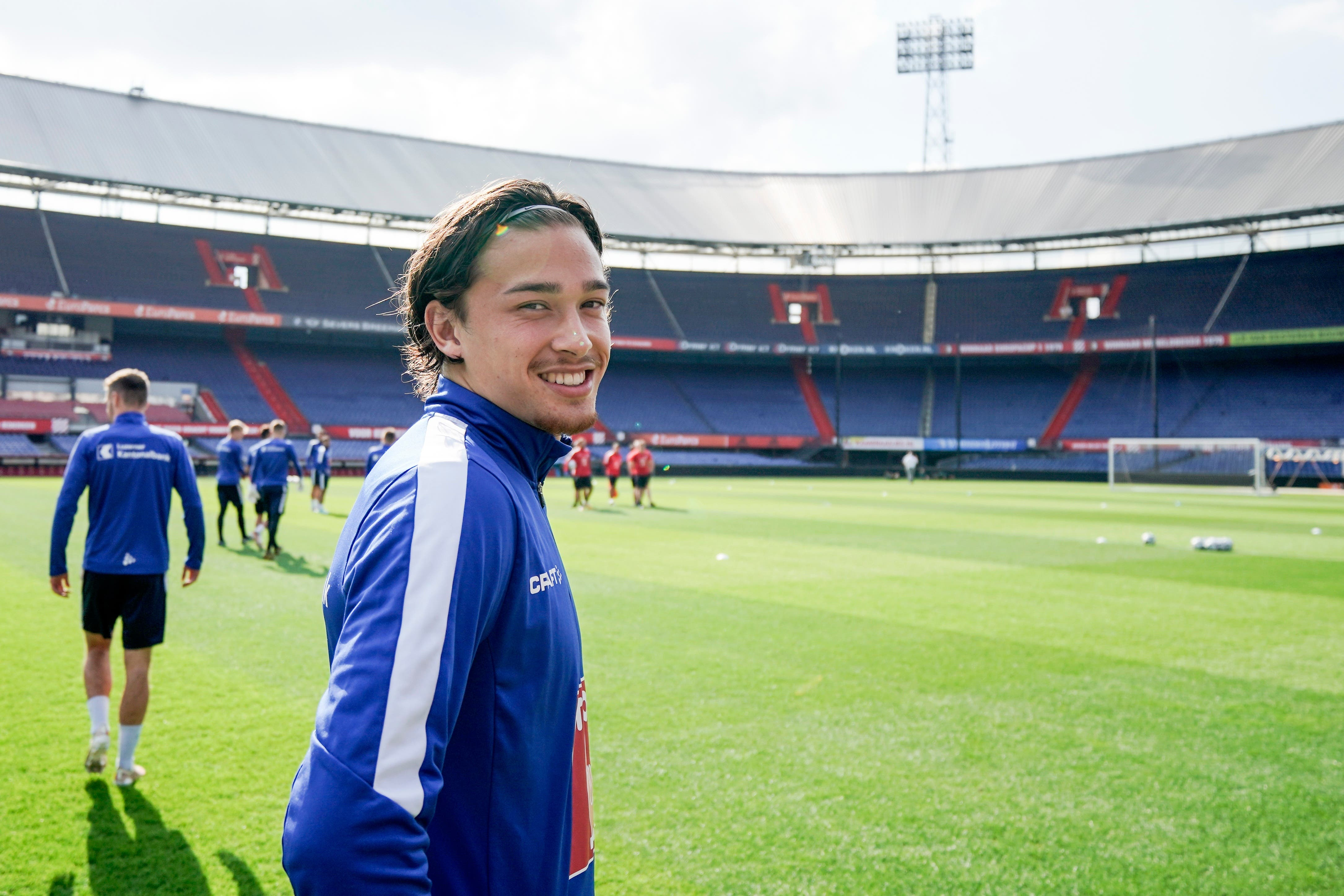 FCL-Spieler Jordy Wehrmann beim Training in Rotterdam.