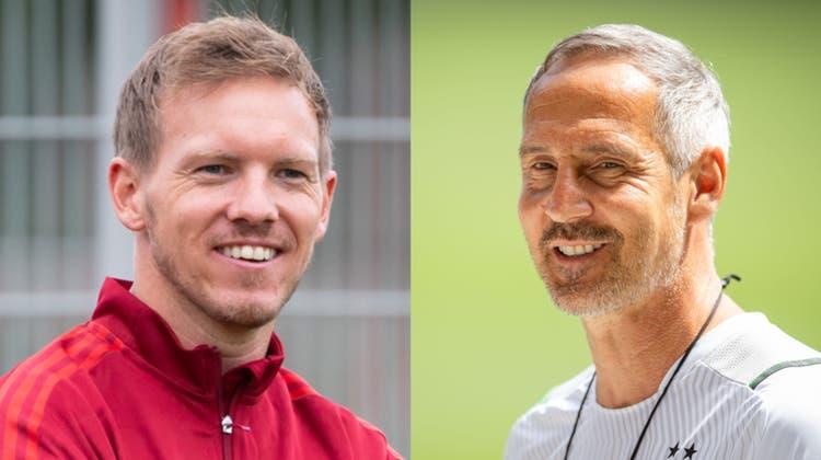 Neu bei Bayern: Julian Nagelsmann (links). Neu bei Gladbach: Adi Hütter. (Bild: Dpa)