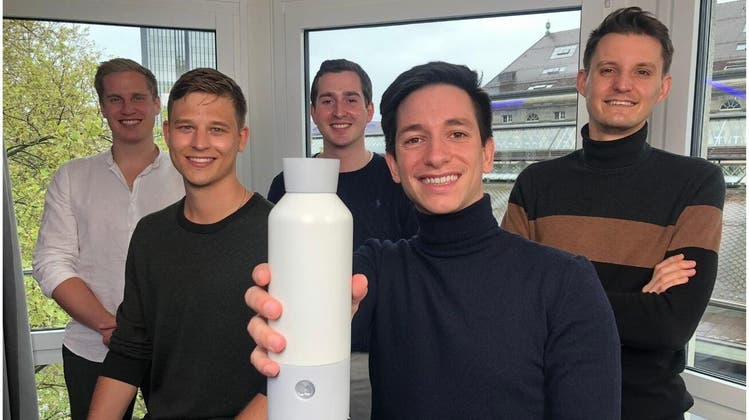 Das sind die Gesichter hinter dem ProjektBottle+: Linus Lingg, Christian Käser, Gregor Heusser, Luca Serratore und Nicolas Wild (v.l.n.r.). (zvg)