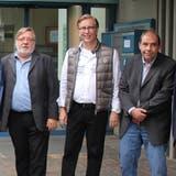 Sie wollen neu in den Gemeinderat gewählt werden (von links): Roland Haldimann, Reto Keller und Guido Kyburz. (Daniel Vizentini)