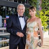 Stammgast im KKL: Ex-UBS-Chef Oswald Grübel mit Renate Häusler. (Bild: Pius Amrein (Luzern, 13. August 2021))