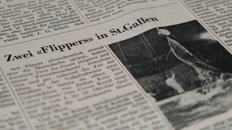 Das «St.Galler Tagblatt» berichtete in der Ausgabe vom 10. Oktober 1970 über die Show. (Bild: «Tagblatt»-Archiv,Andri Vöhringer)