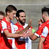 Der FC Solothurn schaffte den Einzug in den Schweizer Cup 2021/22 dank Siegen gegen Echallens (2:1 nach Penaltyschiessen) und Lancy (4:3). (Alexander Wagner)