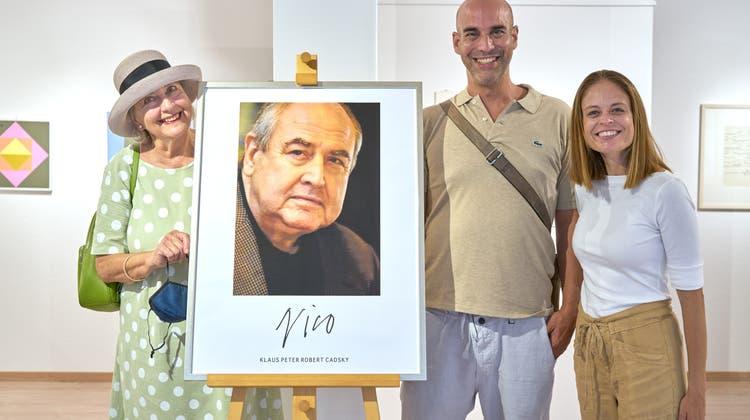 Sie waren in Bad Zurzach dabei: «Nicos» Frau Katrin Cadsky-Frey mit Sohn Philip Cadsky und dessen Frau Judith Tanner. (Bild: Sebastiano Bucca)