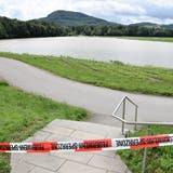 Das Reisfeld (hinten rechts) war am 14. Juli komplett überflutet. (Bild: Michael Hunziker)