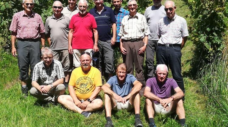 Männerriege Dulliken auf Wanderung im Weingebiet Klettgau