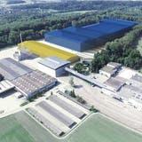EinDistributions- und Servicezentrum, sowie ein Paketzentrum sind geplant. (zvg)