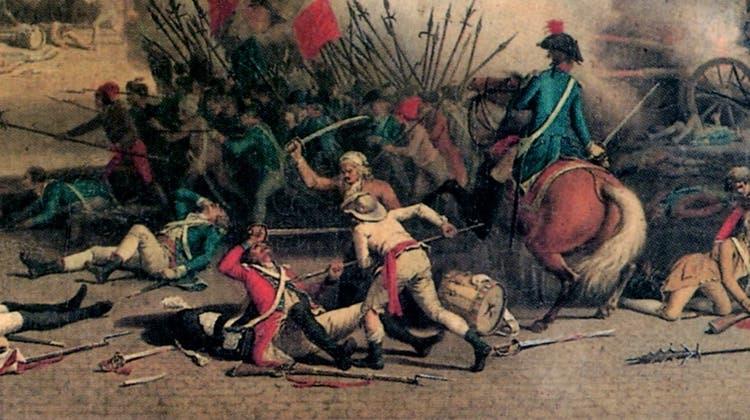 Das Gemälde «La prise des Tuileries» vonJean Duplessis-Bertaux, 1793. (Bild: PD)