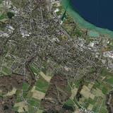 Eine Luftaufnahme der Stadt Kreuzlingen. (Bild: PD)