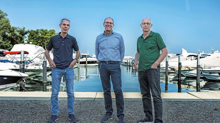 Thomas, Peter und Erich Grimm (v.l.n.r.) haben die Brunnert-Grimm AG zu einem weit über die Region hinaus bekannten und erfolgreichen Unternehmen weiterentwickelt.