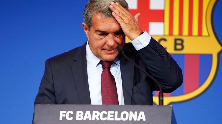 Der Präsident des FC Barcelona, Joan Laporta, gewährt einen Einblick in die finanzielle Schieflage des spanischen Traditionsvereins. (Keystone)
