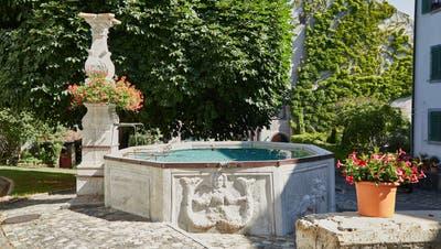 Der Widderbrunnen im Herzen von Kaiserstuhl ist einer der Gründe, weshalb das Städtchen den Brunnenpreis 2020 gewann. (Henry Muchenberger)