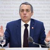Bundesrat Ignazio Cassis sprach am Mittwochwährend einer Medienkonferenz. (Peter Klaunzer / KEYSTONE)