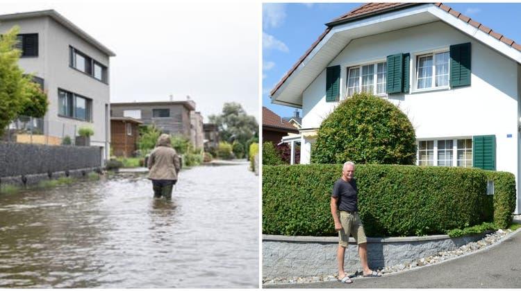 So sah es in der Auffahrt zu Mathis' Haus beim Hochwasser im Juli aus. (Bild: PD)