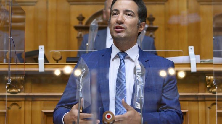 Erleichtert: FDP-Ständerat Andrea Caroni. (Keystone)