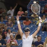 Jil Teichmann realisierte im Achtelfinal von Cincinnati den grössten Sieg ihrer Karriere. Sie gewann gegen die Weltnummer 2 Naomi Osaka. (AP)