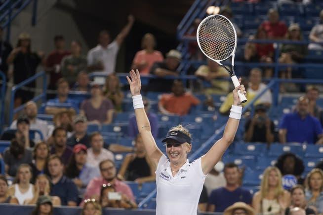 Jill Teachman ha tenido el mayor éxito de su carrera en Cincinnati durante los últimos dieciséis años.  Ella derrotó a la No. 2 del mundo Naomi Osaka.