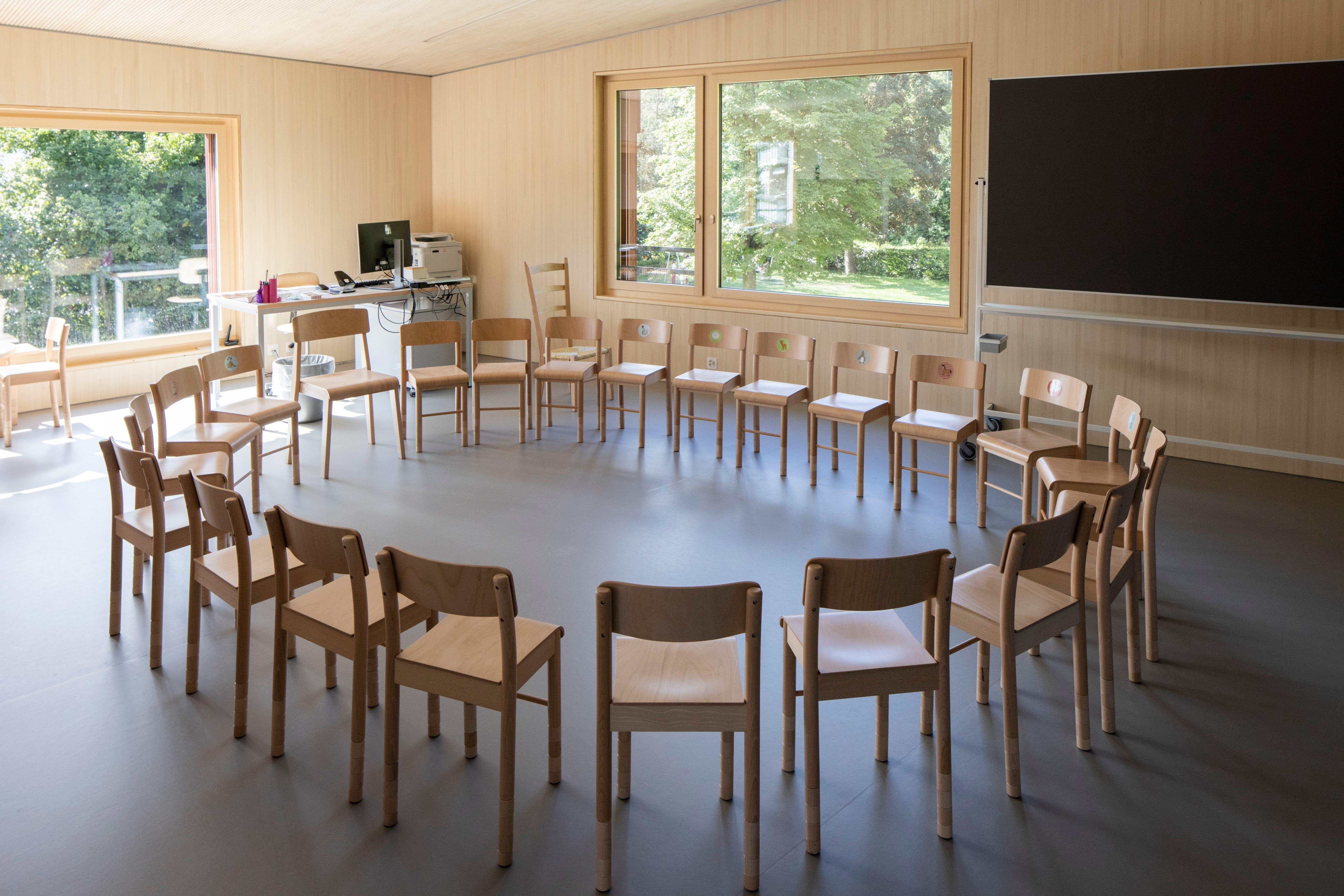 Mit dem Schulstart besuchen zwei Klassen à rund 20 Kindern den neuen Kindergarten.