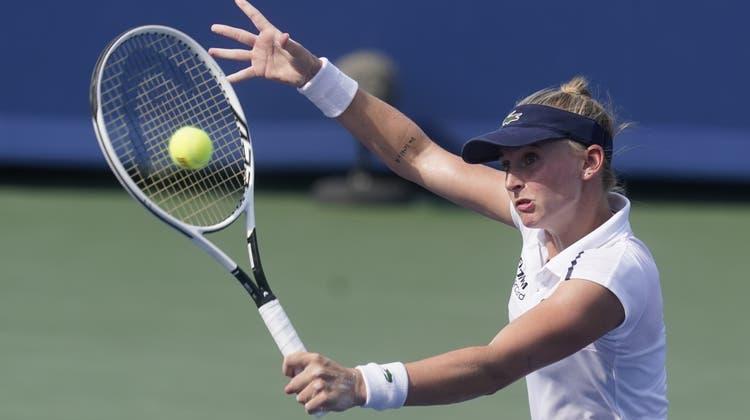 Jil Teichmann steht nach dem Zweisatz-Erfolg gegen Karolina Pliskova im Final des WTA-1000-Turniers von Cincinnati. (Darron Cummings / AP)