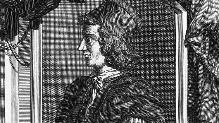Soll er eine eigene Strasse bekommen oder nicht? Der italienische HumanistPoggioBracciolini (1380-1459). (Dea Picture Library / De Agostini Editorial)