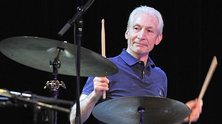 Charlie Watts, Schlagzeuger von den Rolling Stones im Jahr 2010. (Ursula Düren / dpa)