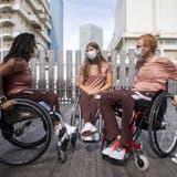 Im Schweizer Team an den Paralympics sind unter anderen vier Nordwestschweizer dabei. Silvio Keller (rechts) gehört dazu. (Ennio Leanza / KEYSTONE)