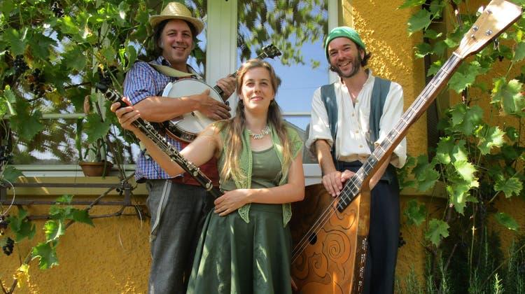 Das Trionettli feiert bald den 20. Geburtstag. Im Bild von links Marc Suter, Sonja Wunderlin und Gabriel Kramer. (Peter Schütz (25. August 2021))
