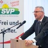 Andreas Glarner steht parteiintern in der Kritik - wurde am letzten Parteitag aber einstimmig als Präsident im Amt bestätigt. (Alex Spichale)