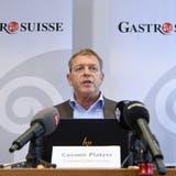 «Für ein Feierabendbier lässt sich niemand extra testen», sagte Casimir Platzer vor den Medien. (Keystone)