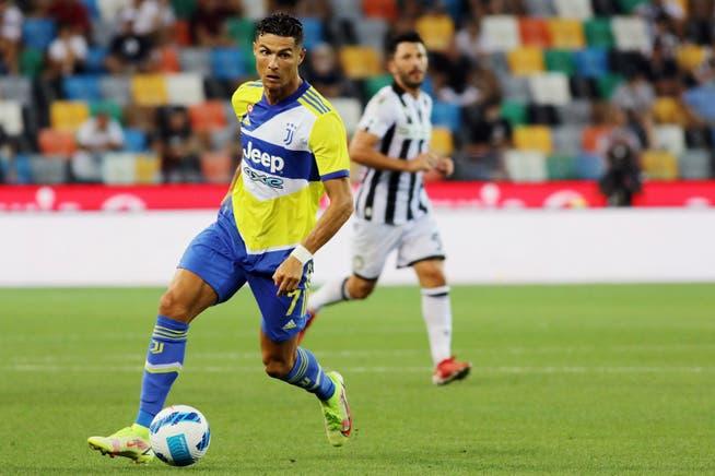Cristiano Ronaldo entró como suplente en el empate 2-2 ante el Udinese la semana pasada.