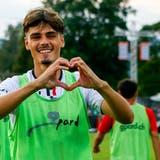 Wichtige Offensivkraft beim FC Aarau: Donat Rrudhani feiert am 2. Spieltag seinen Treffer beim 2:1 in Thun. (Freshfocus)