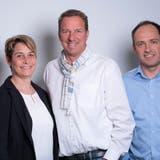 Die Geschäftsleitung der Gemeinde Berikon bestand von Juli 2019 bis August 2021 aus dem Leiter Planung und Bau Daniel Roos, Gemeindeschreiberin Michelle Meier, Gemeindeammann Stefan Bossard und dem Leiter Finanzen Urs Groth (von links). (zvg)