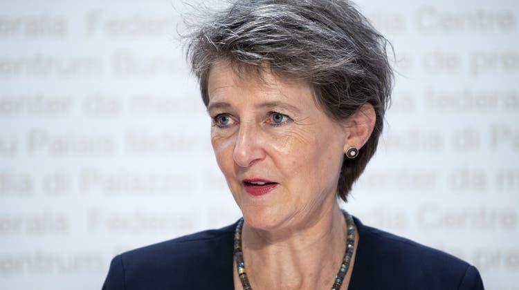 Bundesrätin Simonetta Sommarugas MutterMarie-Thérèse Sommaruga-Keel ist 88-jährig verstorben. (Keystone)