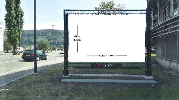 Der Gemeinderat soll für grosse Werbeflächen entlang der Hauptachsen eine Planungszone verhängen. (zvg)