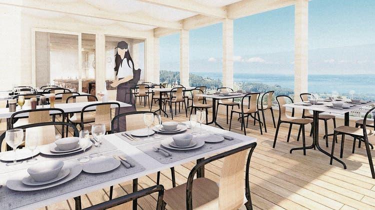 Terrasse mit Blick auf den Bodensee, neugestaltete Zimmer: Das Hotel Heiden will über sieben Millionen investieren