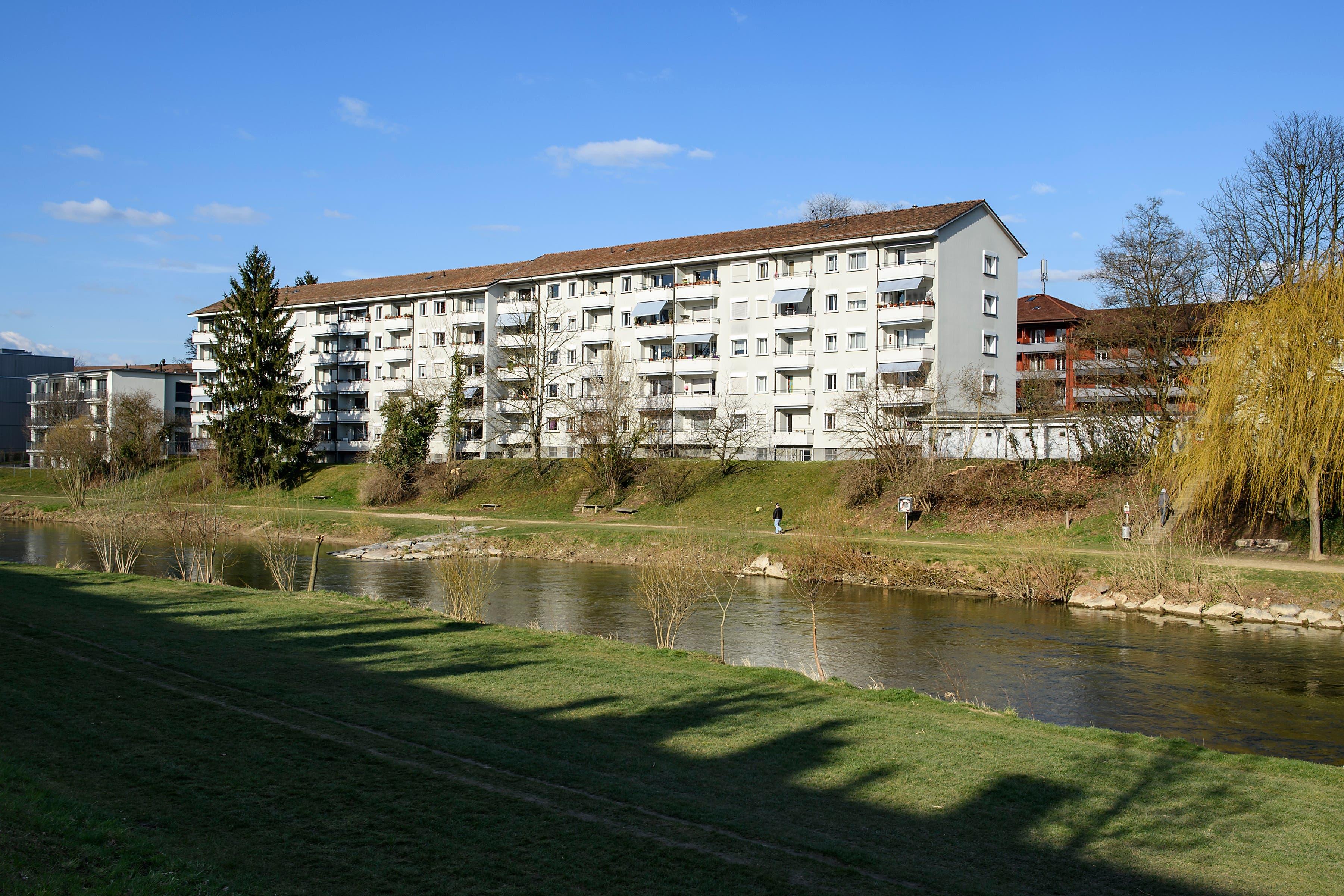 Das Areal des Quartierplans Birseckstrasse befindet sich entlang der Birs in Birsfelden.