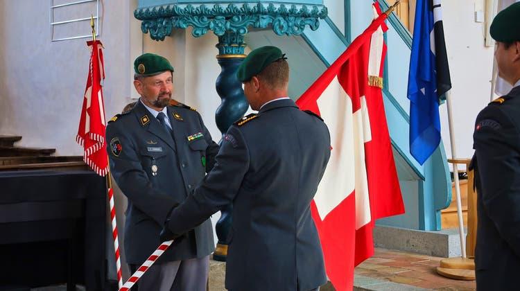 Sicherheitsdirektor Mario Fehr (parteilos), Oberst Damian Casanova, Brigardier Peter Baumgartner und Oberstleutnant Oliver Wolf. (Colin Métraux/zvg)