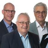 Die bürgerlichen Stadtratskandidaten für die Schlieremer Wahlen: BeatKilchenmann (SVP), Daniel Laubi (Die Mitte), Hans-Ulrich Etter (SVP), Bea Krebs (FDP) und Stefano Kunz (Die Mitte). (zvg)