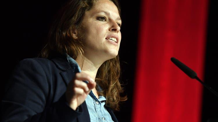 Co-Präsidentin Mattea Meyer am SP-Parteitag. Die SP lanciert einen Angriff auf den bürgerlichen Freiheitsbegriff. (Keystone)