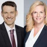 Benedikt Hoffmann (SVP) und Fabienne Moser-Frei (parteilos) kandidieren für das Dietiker Gerichtspräsidium. Sie wollen Nachfolger werden von Stephan Aeschbacher (SP). (zvg)