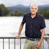 Peter Wehrli, Stadtratskandidat Aarau, fotgrafiert beim ENIWA-Kraftwerk in Aarau, am 26. August 2021. (Severin Bigler / © CH Media)