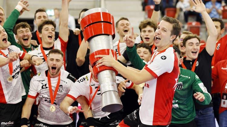 Pfadi Winterthur ist auch aktueller Supercupsieger. (Michael Buholzer / KEYSTONE (Winterthur, 28. August 2021))