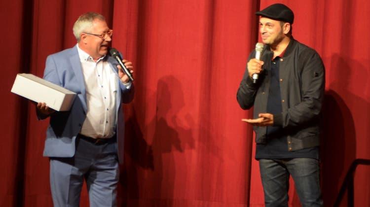 Glatz-VR-Präsident Markus Glatz mit dem deutschen Comedian-Star Kaya Yanar. (Bild: Margrith Pfister-Kübler)