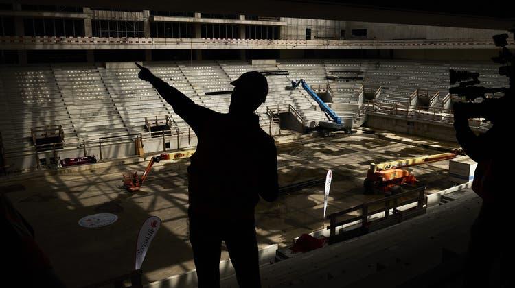 Das neue Eishockeystadion bietet dereinst 12'000 Zuschauern Platz. (Michael Buholzer/Keystone)