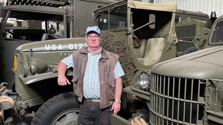 Stefan Laib (55), Präsident der 2014 gegründeten gemeinnützigen Stiftung «Militär- und Kunstsammlung Laib Meisterschwanden» (Zur Verfügung Gestellt / Aargauer Zeitung)