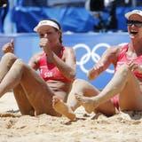 Joana Heidrich und Anouk Vergé-Dépré stehen bei den Olympischen Spielen in den Halbfinals und spielen um die Medaillen. (Tatyana Zenkovich / EPA)