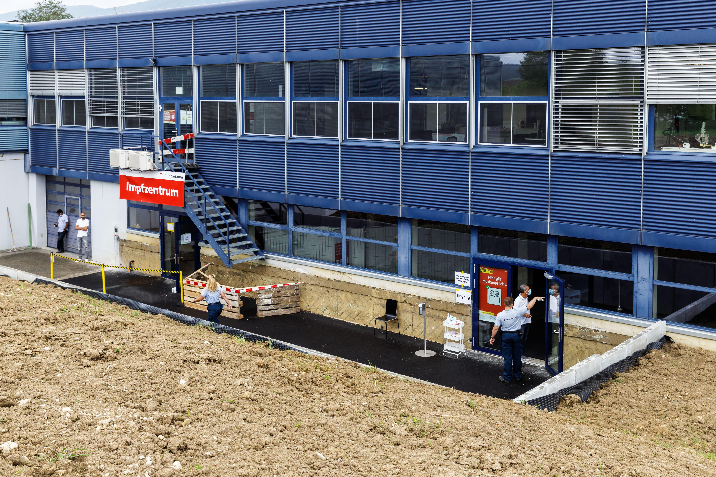 Seit Anfang August ist das neue Impfzentrum in Selzach offen.