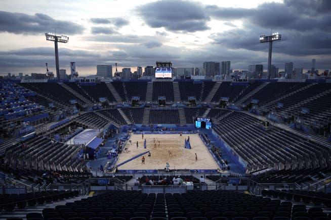 Der 12'000-Zuschauerkessel im Shiokaze Park bleibt praktisch leer.