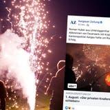 Die einen geniessen es, die anderen stört's: private Feuerwerke sorgen für teils hitzige Diskussionen. (Ennio Leanza / Keystone)
